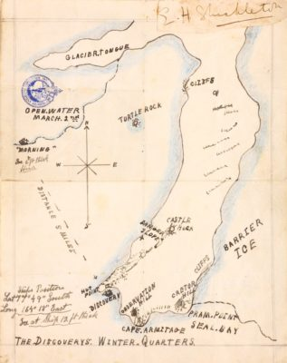 A Map of the Antarctic, courtesy of Chiswick Auctions (see Lot 549, 28/3/18)