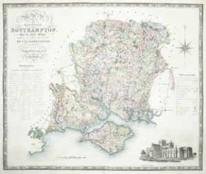 Greenwood (Christopher and John) Map of the County of Southampton from an Actual Survey made in the Years 1825 & 1826,