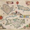 Mona Insula Vulgo Anglesey; Mona Insula Vulgo The Isle of Man; Vectis Insula Anglice The Isle of Wight,