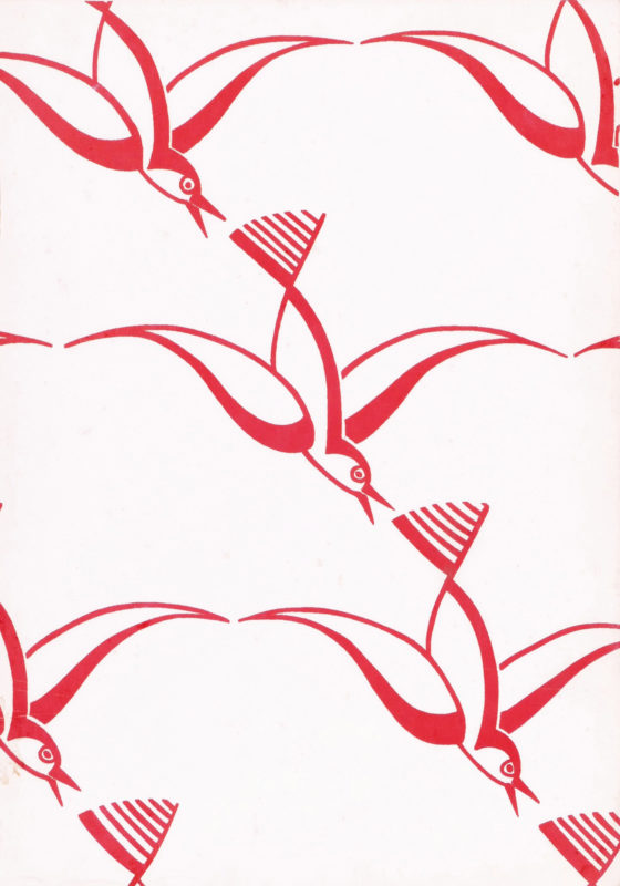 Titze (Walter Karl) 12 art deco designs with bird motifs